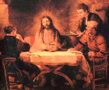 Jesus in Emmaus