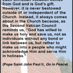 Your Christian Vocation - quote by Pope John Paul II