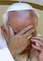 Pope John Paul II grieves after 9-11 terrorist attacks
