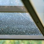 dew drops on lanai screen (Franciscan Moments)