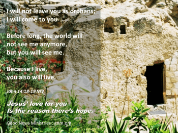 John 14: I will not leave you as orphans