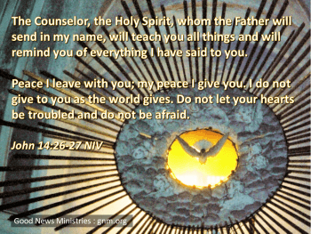 The Counselor - the Holy Spirit