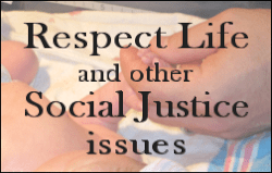 Articles on Respect Life and other Social Justice Issues