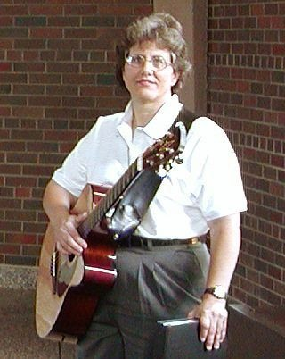 Nancy Gardner serving at the Pastoral Institute in 2002