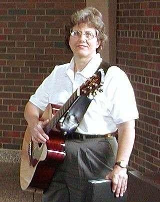 Nancy Gardner serving at the Pastoral Institute in 2002